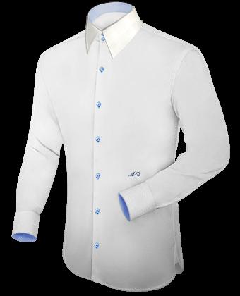 blanca lujo hombre de para Camisa PXiuZk