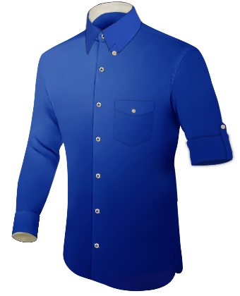 Mens Formal Shirts with Hidden Button