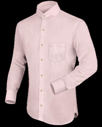 Mens Italian Shirts with Cut Away 1 Button