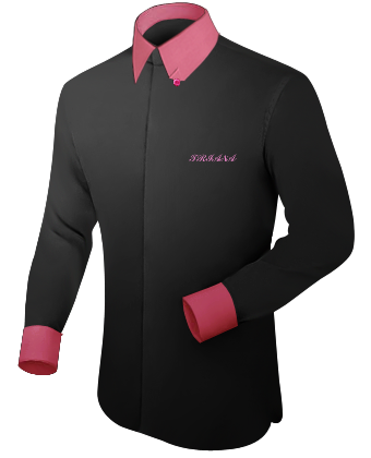 Mode Chemise Hommes Simple with Hidden Button