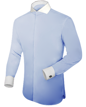 Online Shirt Tailor with Cut Away 1 Button