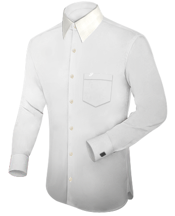 Chemise Sur Mesure Discount with French Collar 1 Button