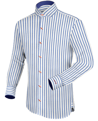 Shirts Made To Measure with Italian Collar 1 Button