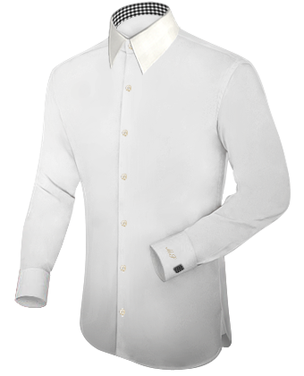 Shopping Chemise with French Collar 1 Button