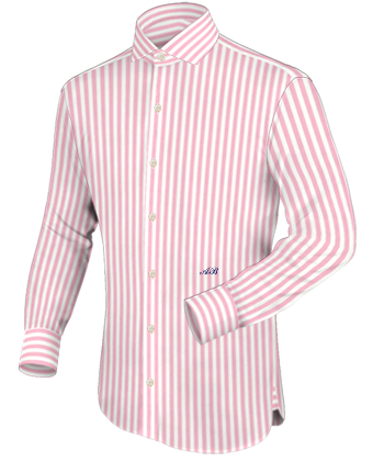 Simulation Chemise Homme with Italian Collar 1 Button