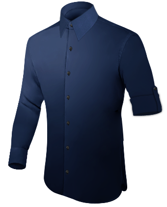 Slim Fit Shirts with French Collar 1 Button