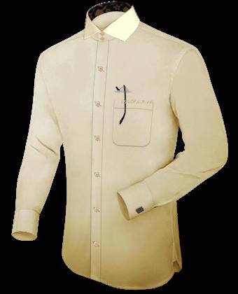 Solde Chemise Sur Mesure with Italian Collar 2 Button