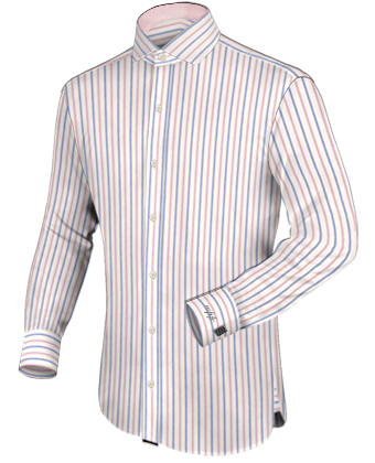 Soldes Chemise Homme Coton with Italian Collar 1 Button