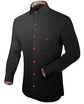 Solid Chemise with Modern Collar