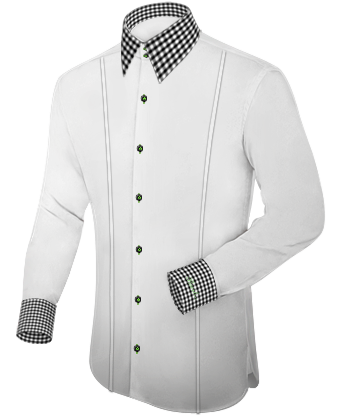 Tissu Pour Chemise with French Collar 2 Button