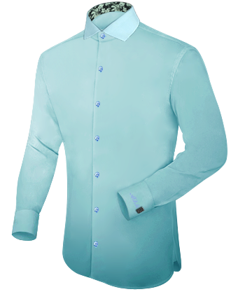 Usine Confection Cafe Coton Chemise with Italian Collar 1 Button