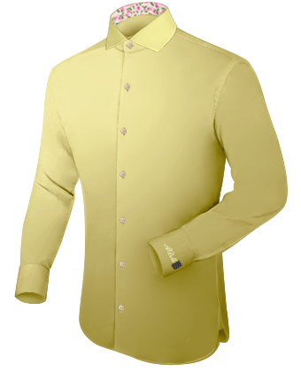 Vente Chemise Grande Taille with Italian Collar 1 Button