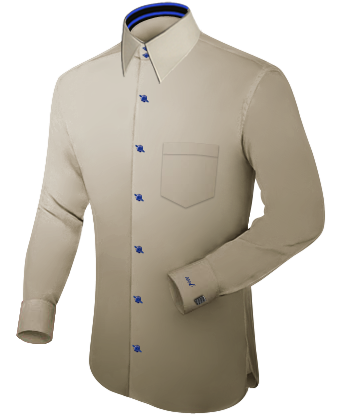 Vente Chemises Sur Mesure En Ligne with French Collar 2 Button