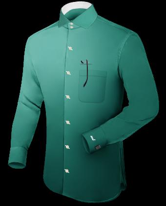 Vente De Chemises Homme with Italian Collar 2 Button