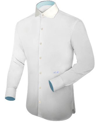 Une Chemise Blanche with English Collar