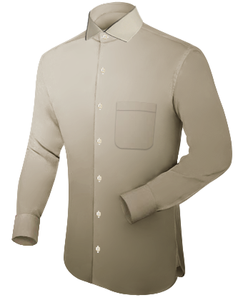 Chemise Col Haut with French Collar 1 Button