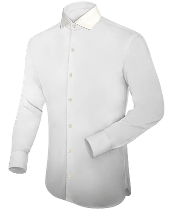 Chemise Grande Taille with Italian Collar 1 Button