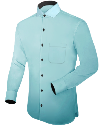 Chemise Homme with Italian Collar 1 Button