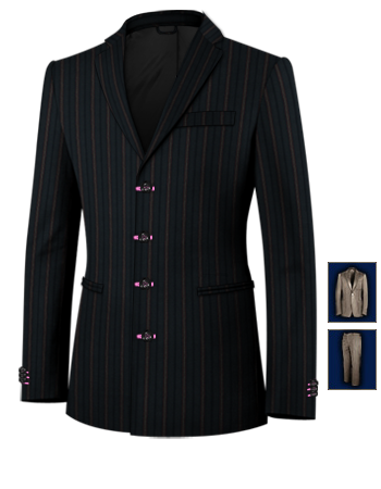 Costume Mariage Homme with 4 Buttons, Single Breasted