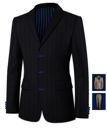 Faire Son Costume Sur Mesure with 3 Buttons, Single Breasted