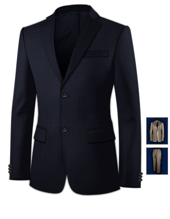 Costume Homme D Ete with 2 Buttons, Single Breasted