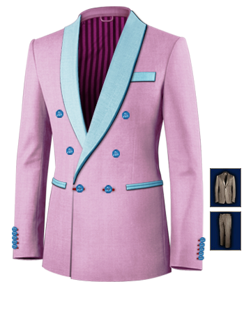 Costume Doubl� with 6 Buttons, Double Breasted (1 To Close)