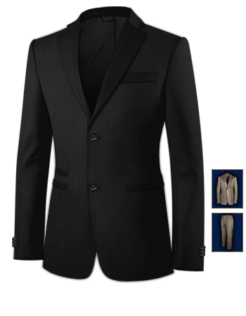 Costumes Pour Homme Chic with 2 Buttons, Single Breasted