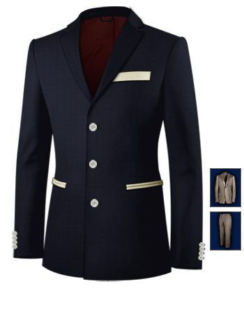 Confection De Costume Sur Montpellier with 3 Buttons, Single Breasted