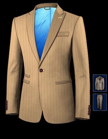 Vente Costume Sur Mesure with 1 Button, Single Breasted