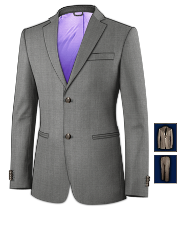 Costume Hommes V�tements with 2 Buttons, Single Breasted