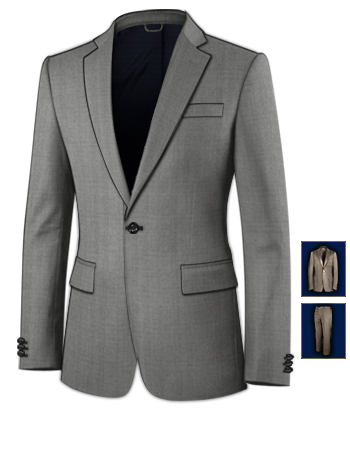Costumes Homme Galeries with 1 Button, Single Breasted