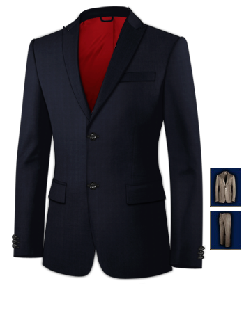 Costume De Marques with 2 Buttons, Single Breasted
