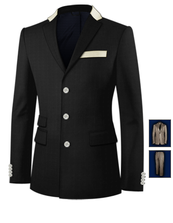 Costume Homme Quimper with 3 Buttons, Single Breasted