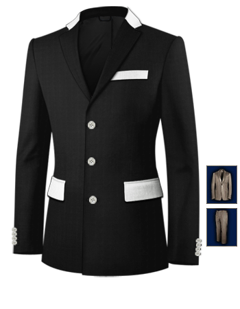 Costume Sur Mesure Grande Taille with 3 Buttons, Single Breasted