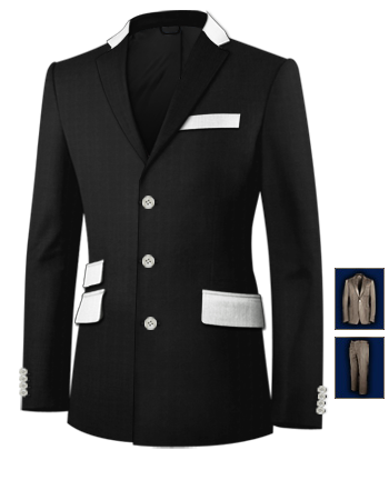 Costume Sur Mesure Strasbourg with 3 Buttons, Single Breasted