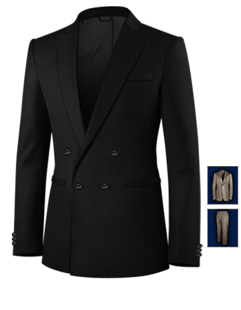 Costume 3 Pi�ces Homme Discount with 4 Buttons, Double Breasted (1 To Close)