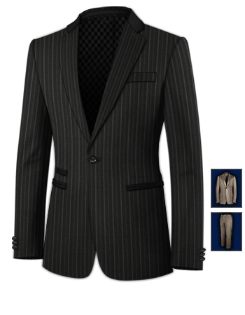 Costume Homme Classe with 1 Button, Single Breasted