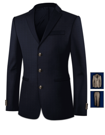Costume Homme Rennes with 3 Buttons, Single Breasted