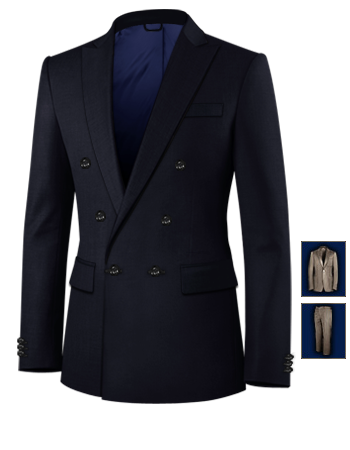Luxe Costume with 6 Buttons, Double Breasted (1 To Close)