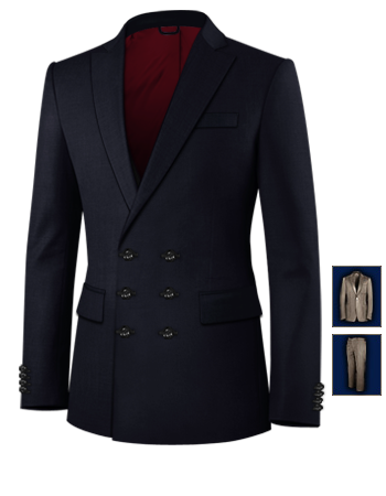 Vitrine De Costume with 6 Buttons, Double Breasted (3 To Close)