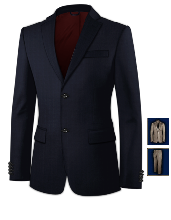 Costumes Homme 1920 1930 with 2 Buttons, Single Breasted