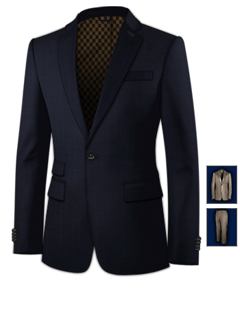 Costume Homme Slim Fit 2011 with 1 Button, Single Breasted