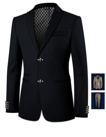 Magasin Costume Sur Mesure with 2 Buttons, Single Breasted