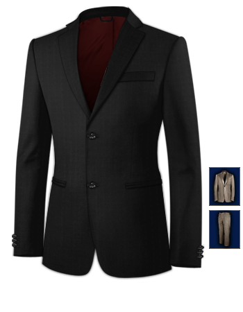 Costume Homme Montbeliard with 2 Buttons, Single Breasted