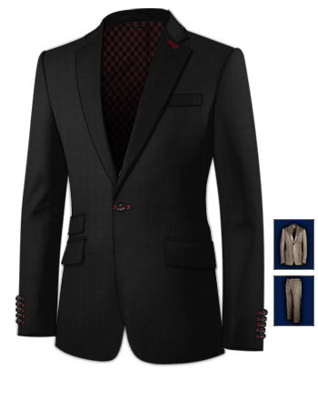 Costume Le Havre Yvetot with 1 Button, Single Breasted