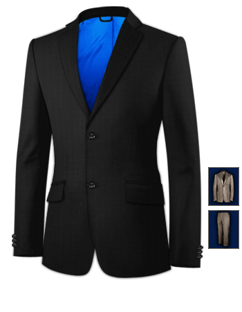 Blazer Homme Marine 56 with 2 Buttons, Single Breasted