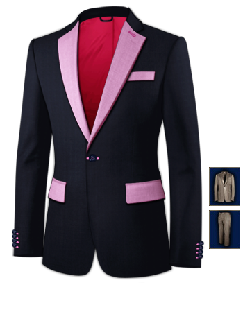 Costume Sur Mesure Internet with 1 Button, Single Breasted
