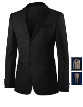 Veste Costume Italien with 2 Buttons, Single Breasted