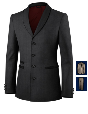 Costumes Hommes Bureau with 4 Buttons, Single Breasted