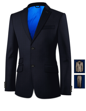 Taylor Costume Sur Mesure with 2 Buttons, Single Breasted